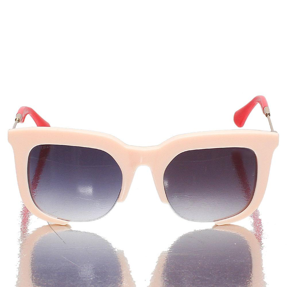 Gold Red Pink Club Master Dark Lens Sunglasses