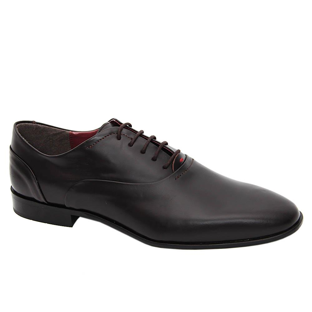 K Geiger Coffee Malcolm Leather Oxford Shoe