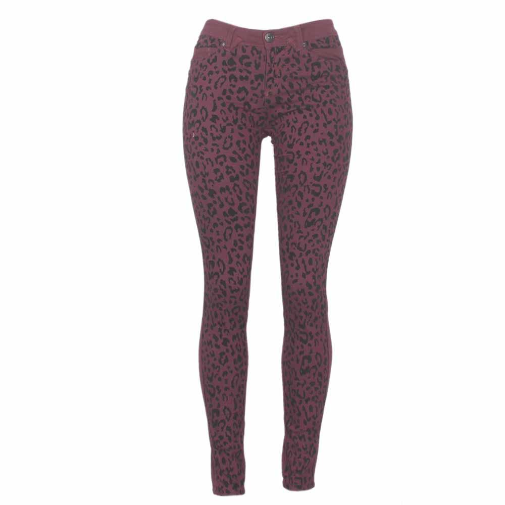 FB Sisters Wine Ladies Cotton Skinny Jeans-W28 L38
