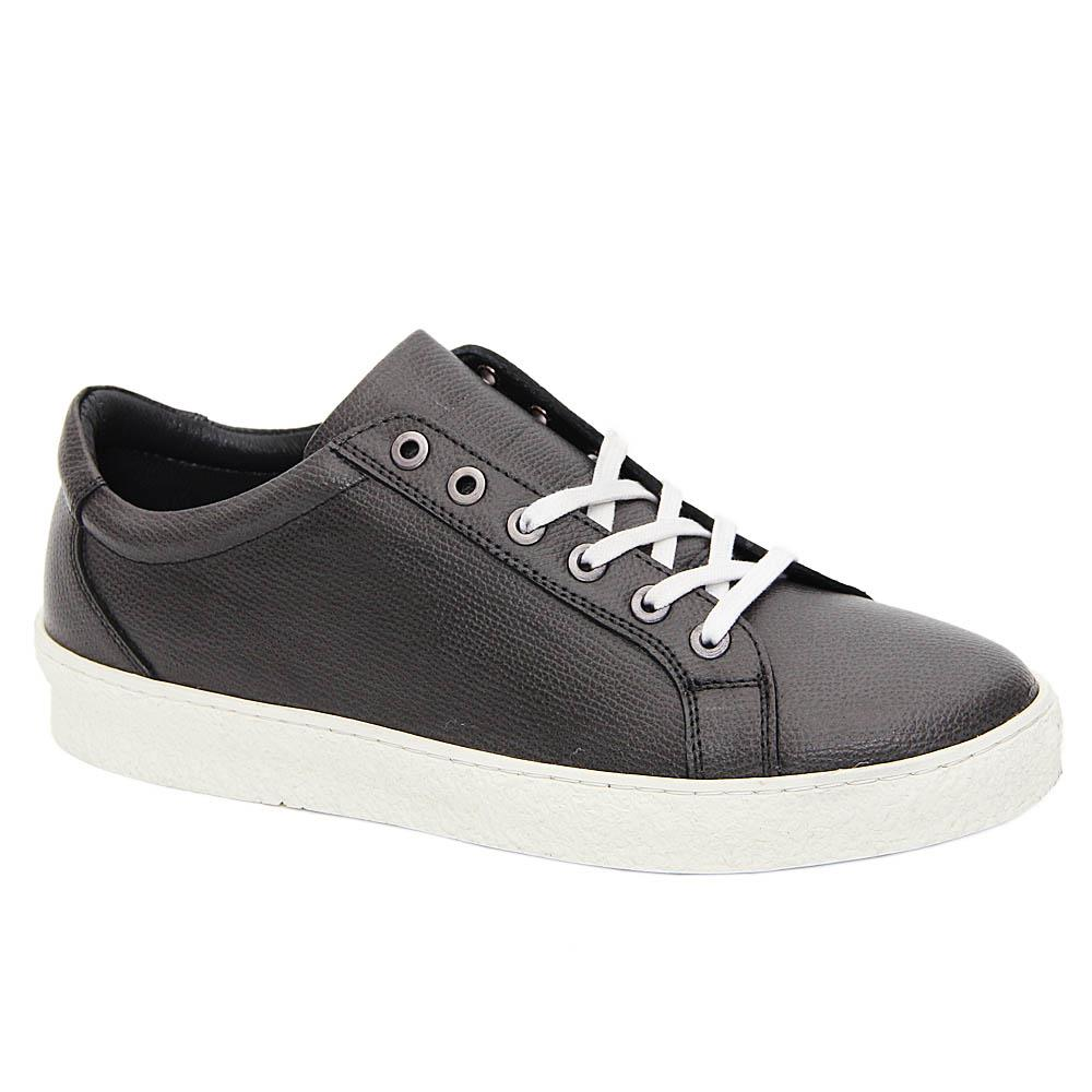 Gray Miguel Italian Leather Sneakers