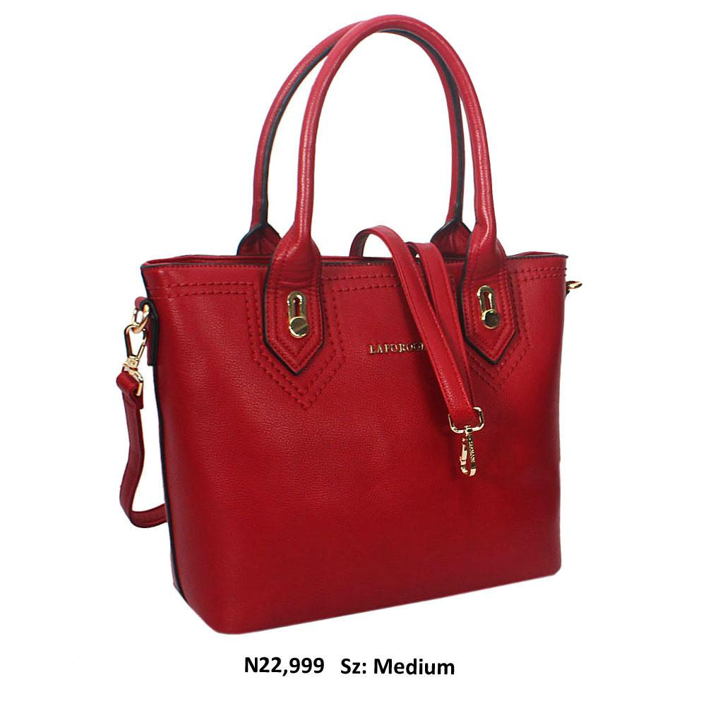 Burgundy Joaquina Leather Tote Handbag