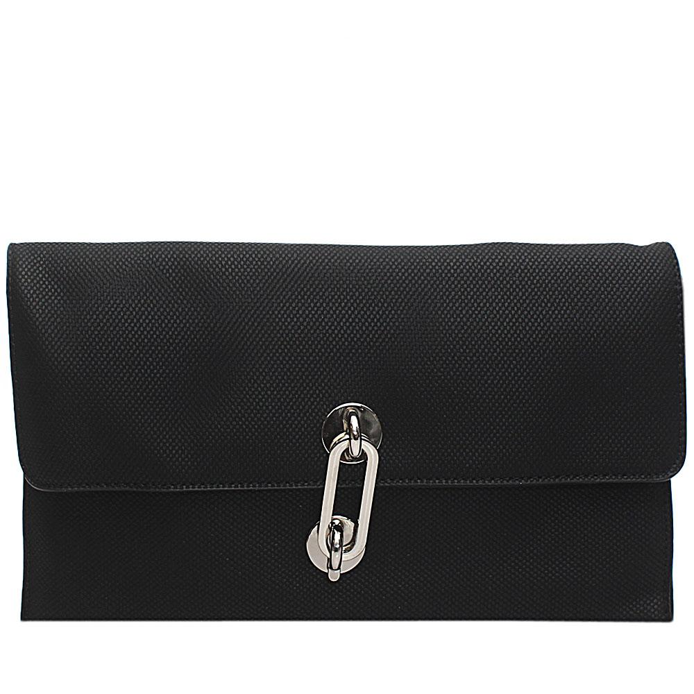 Black Acacio Leather Flat Purse