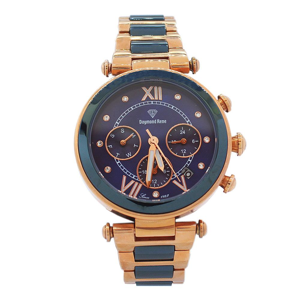DR-5ATM-Rose-Gold-Blue-Ice-Stainless-Steel-Ladies-Watch