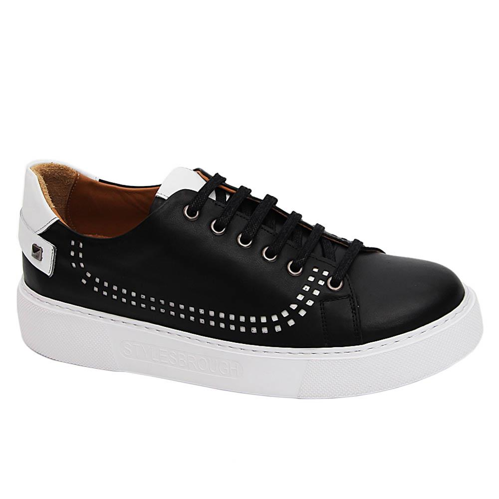 Black Callisto Italian Leather Sneakers