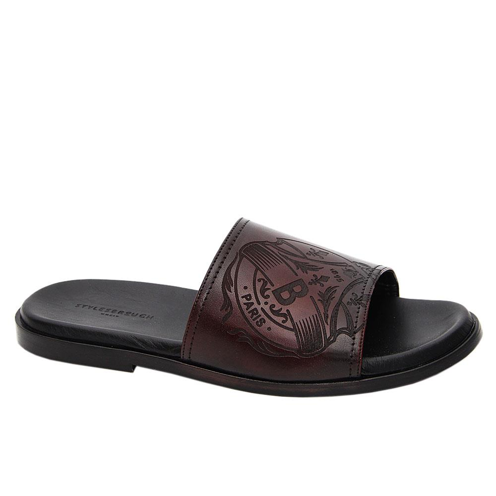 Coffee Juan Manuel Italian Leather Slippers