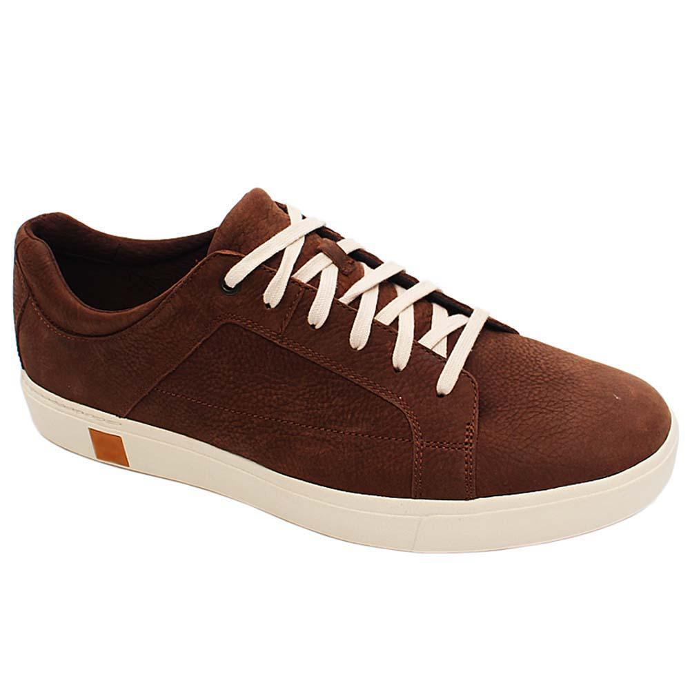 Coffee Montego Leather Men Sneakers