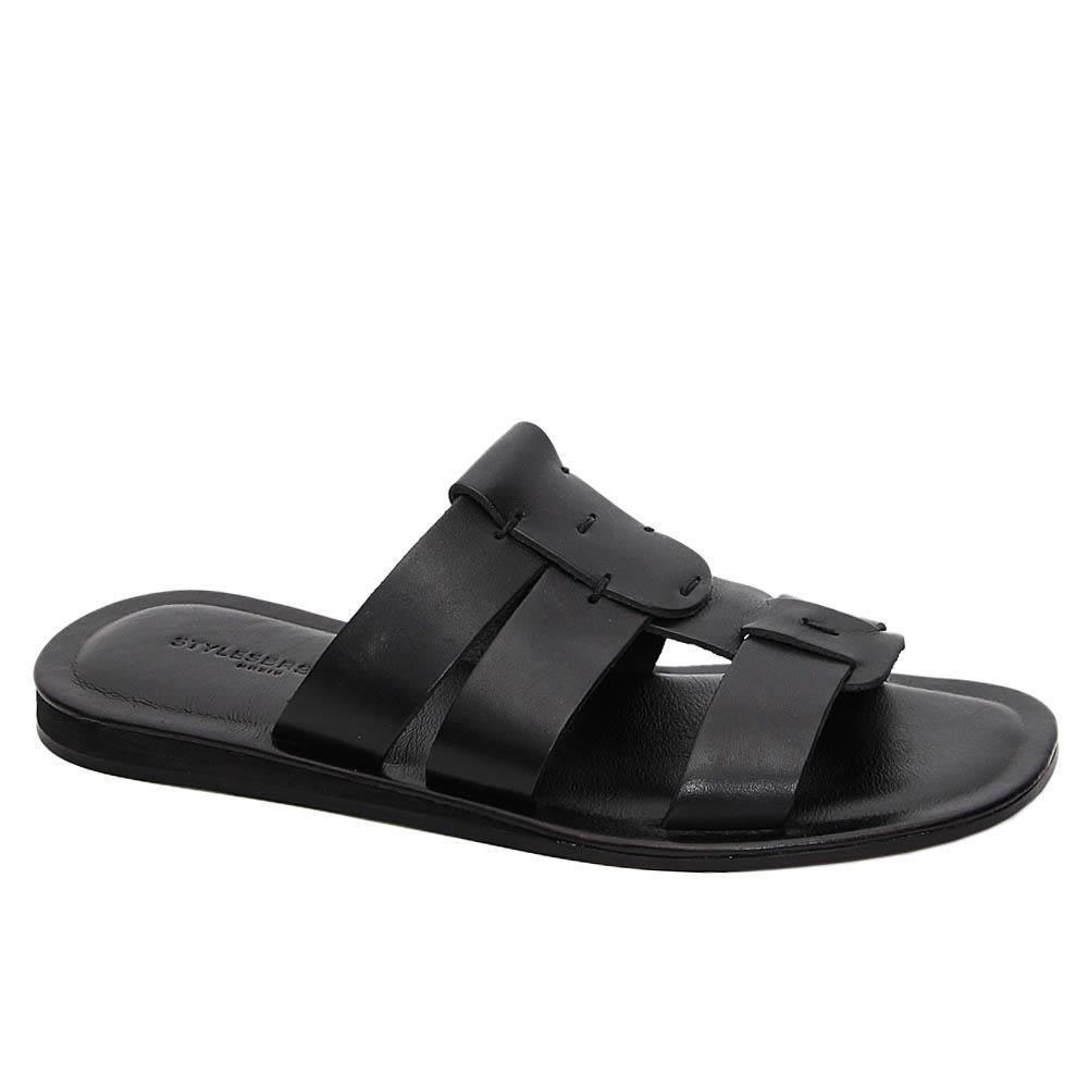 Black Gonzalo Italian Leather Slippers