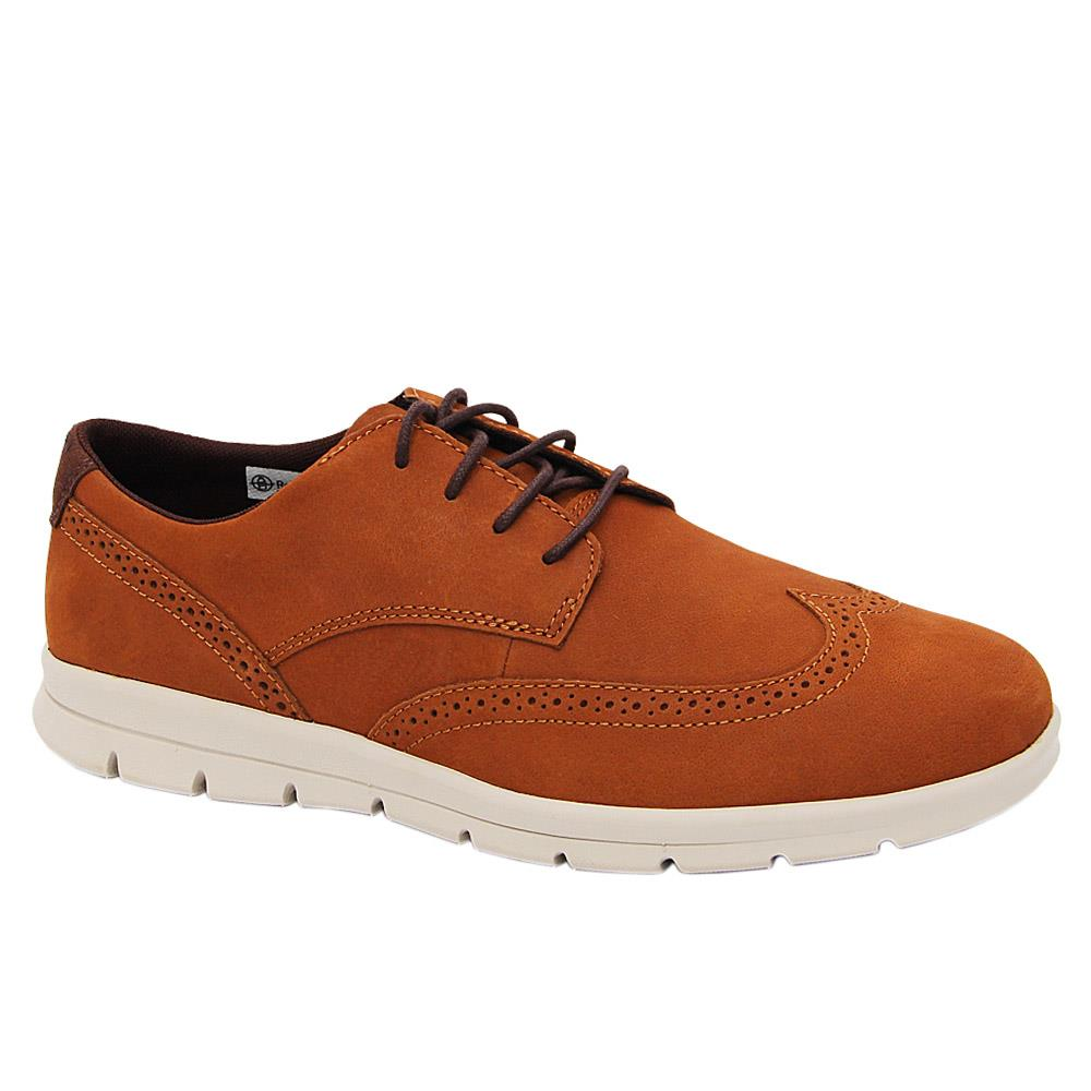Brown Martinez Leather Comfort Sole Sneakers