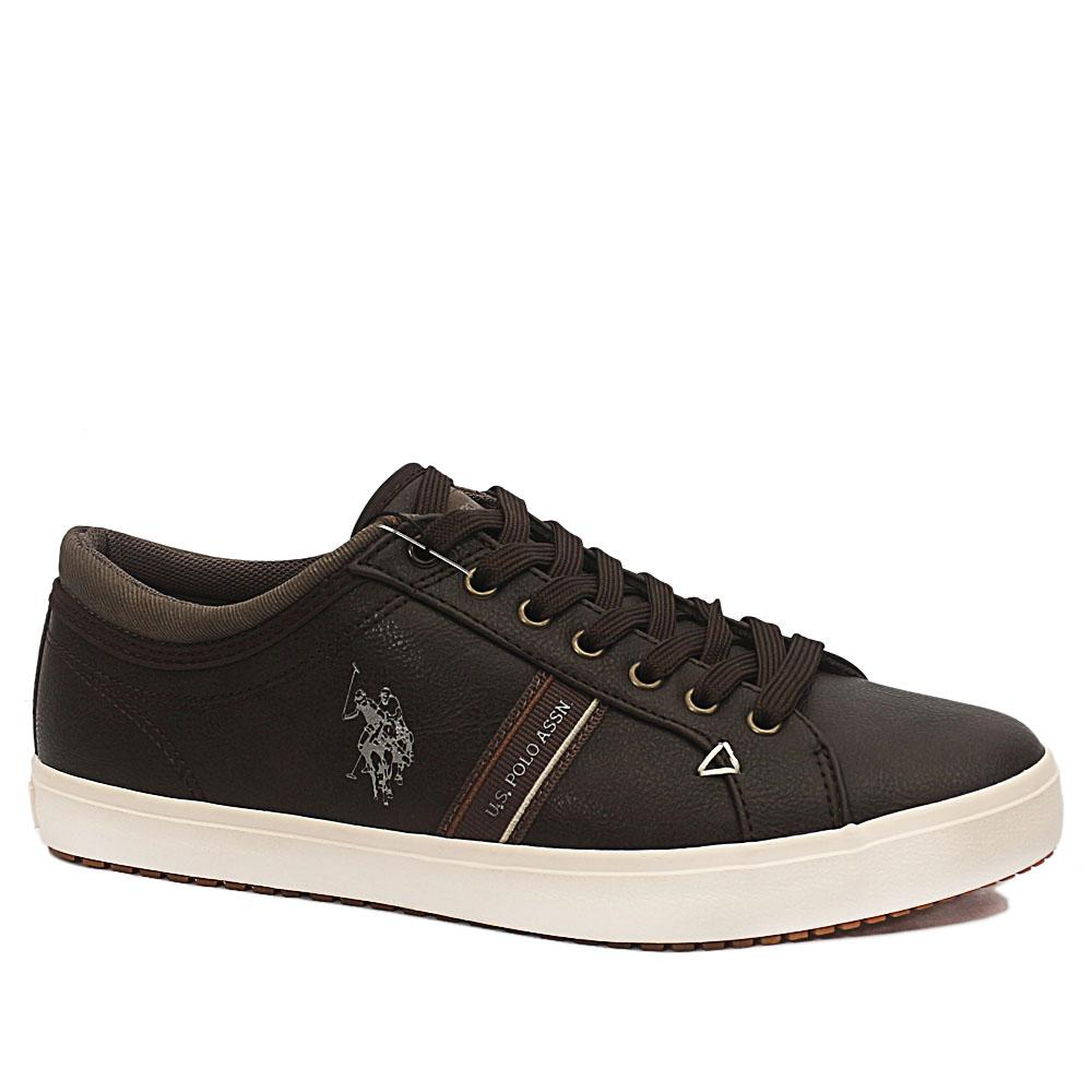 Coffee Wey Leather Sneakers