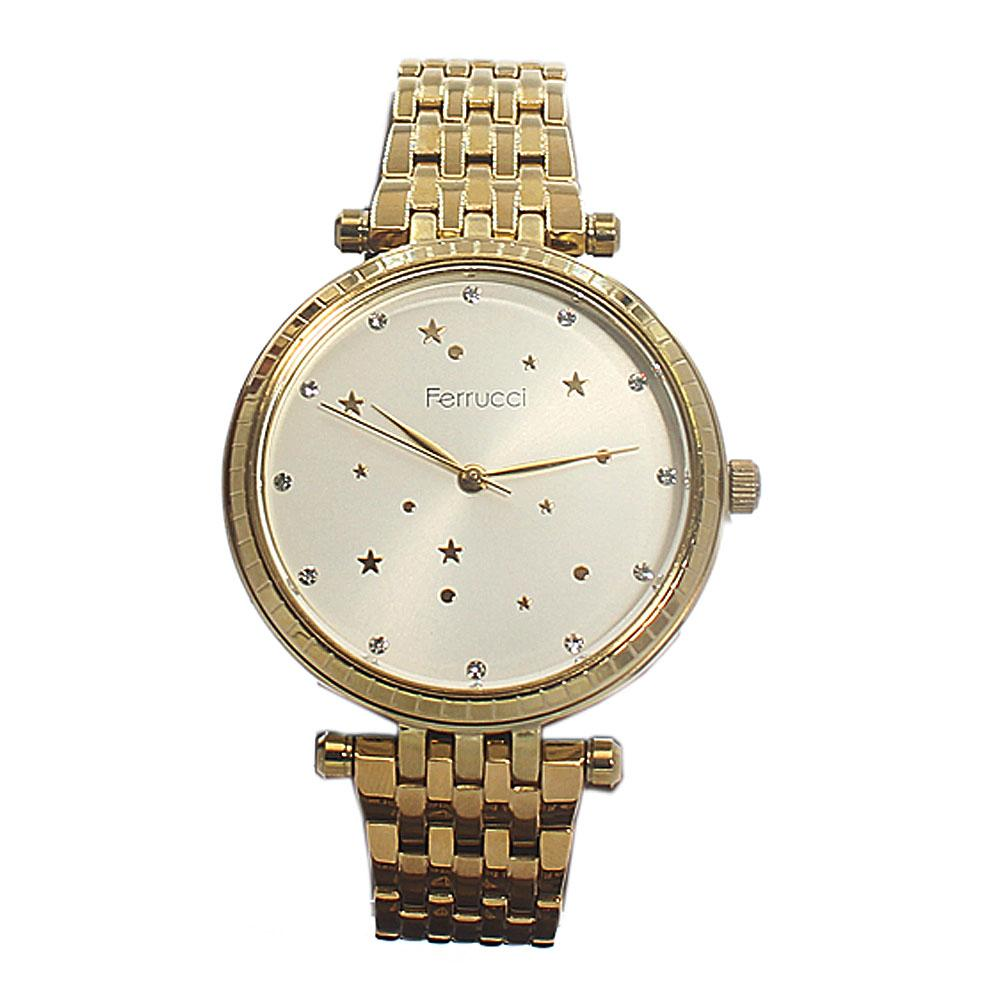 Ferrucci Star Gold Mesh Fashion Ladies Watch