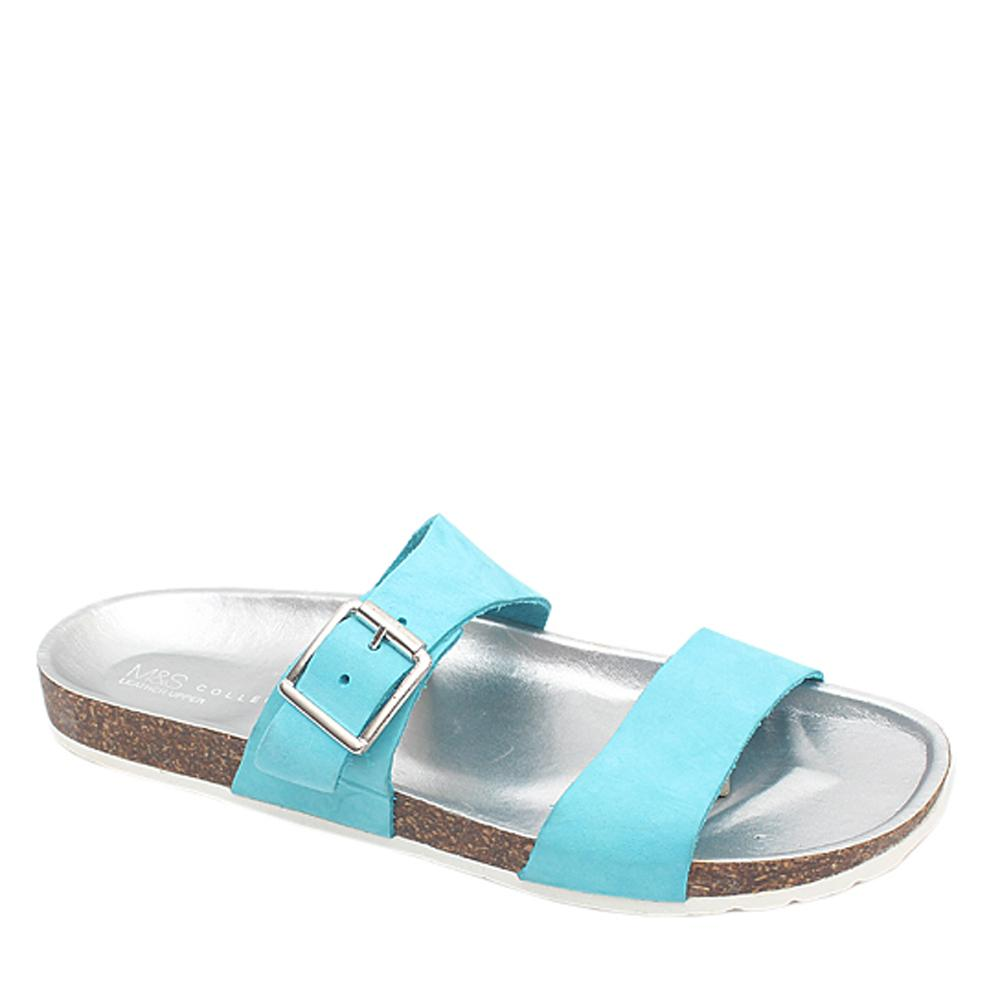 M & S Collection Blue Silver Ladies Birkenstock Sz 41