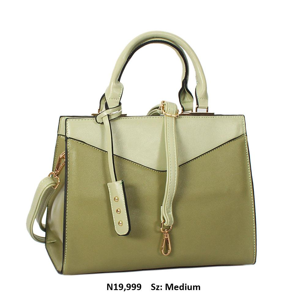 Green Soraya Leather Tote Handbag