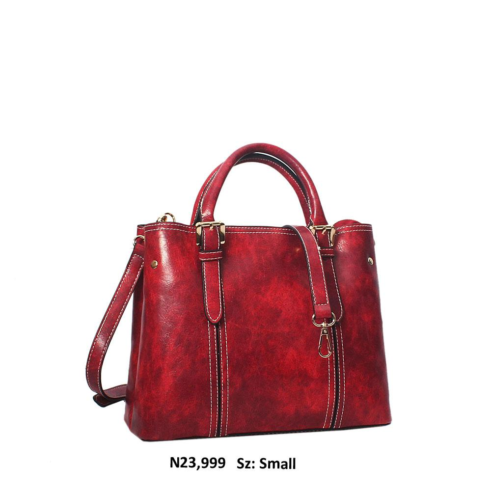 Burnt Pink Gabriela Leather Tote Handbag