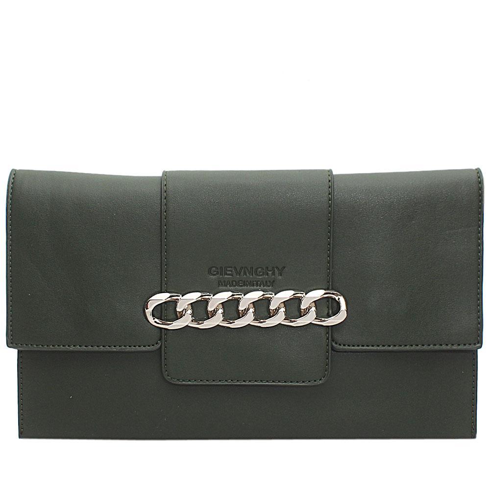 Green Arelia Design Leather Flat Purse