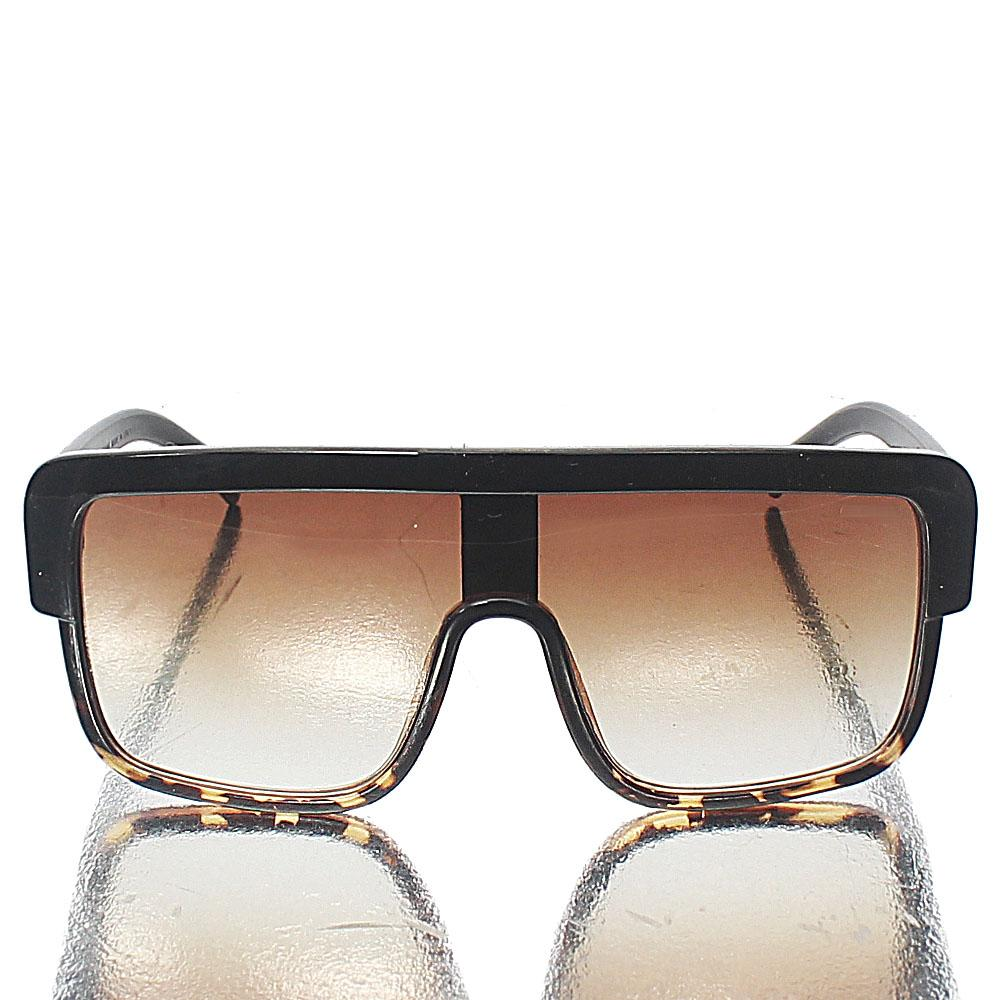 Brown Oversized Shield Sunglasses