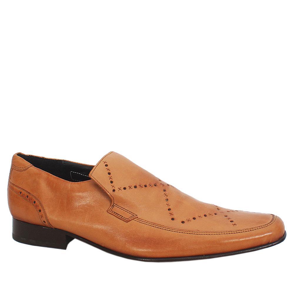 Autograph Camel Brown Leather Men Shoe Sz 43
