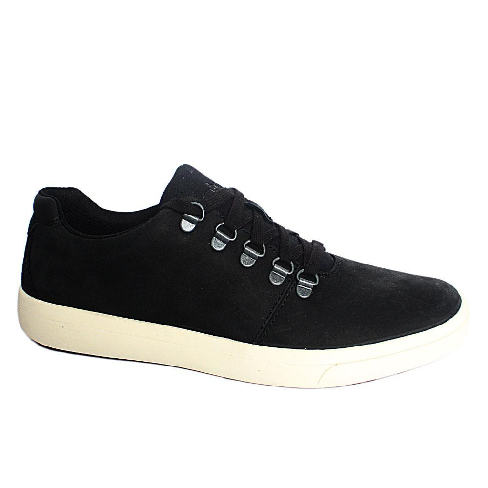 Black Ashwood Park Leather Sneakers