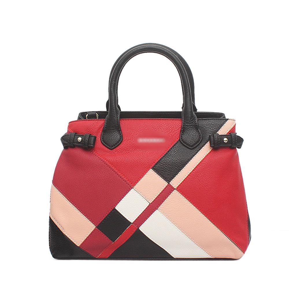 59adc4b9a593 Buy Burberry-Black-Red-Wine-Leather-Patchwork-Bag - The Bag Shop Nigeria