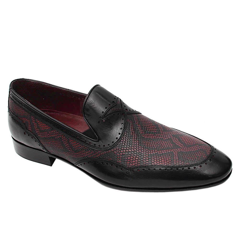 Black Wine Julo Italian Leather Loafers