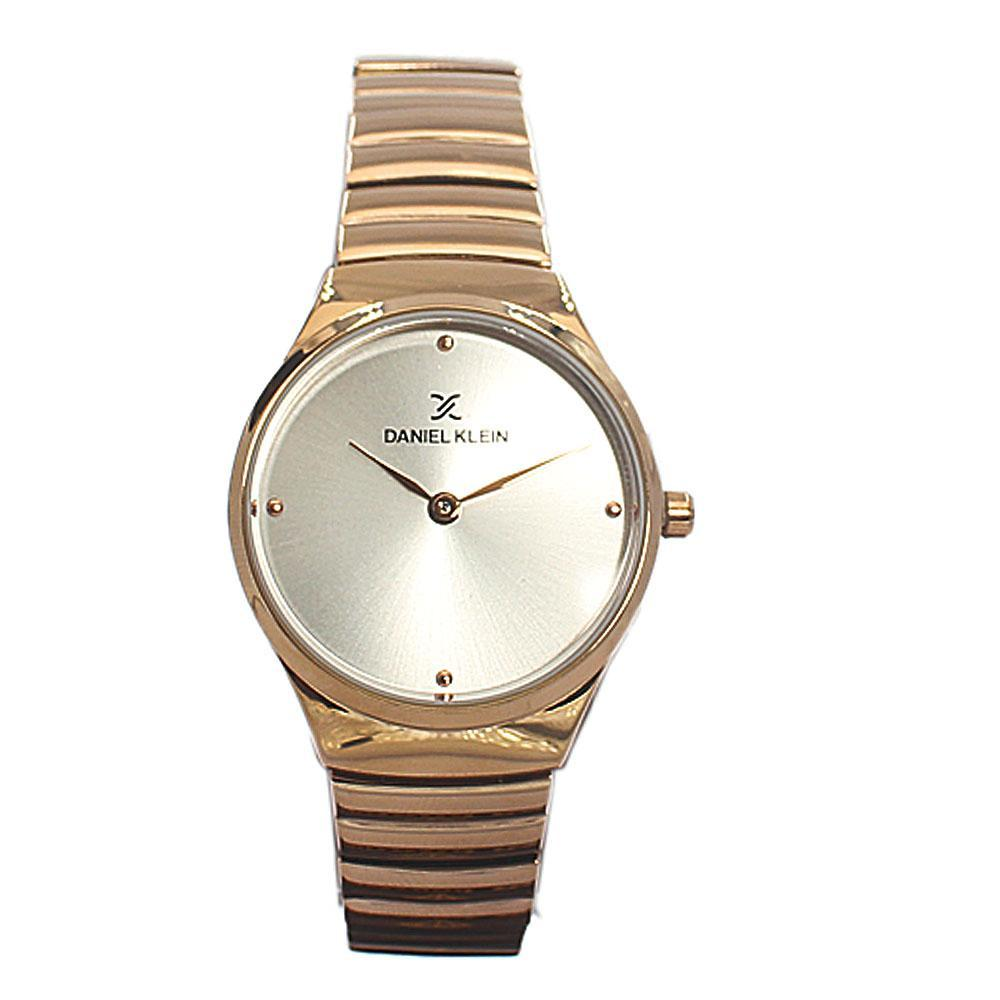 Vintage Silver Gold Stainless Steel Ladies Watch