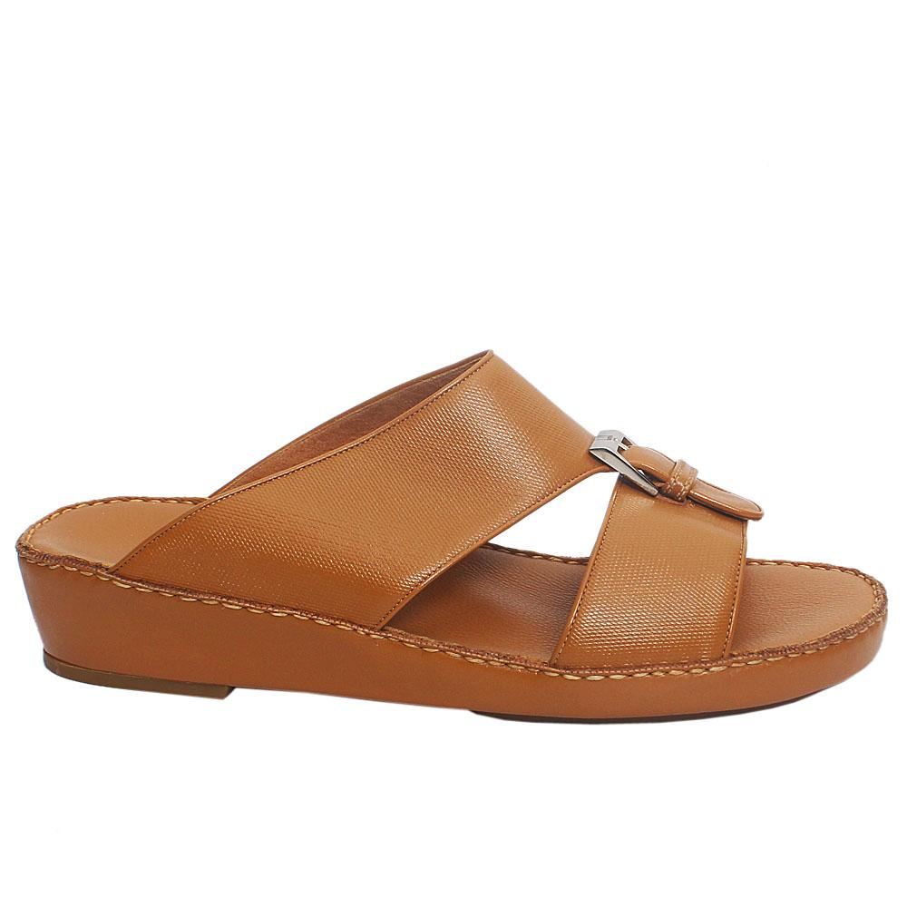 Brown ADL Alfonso Leather Men Slippers