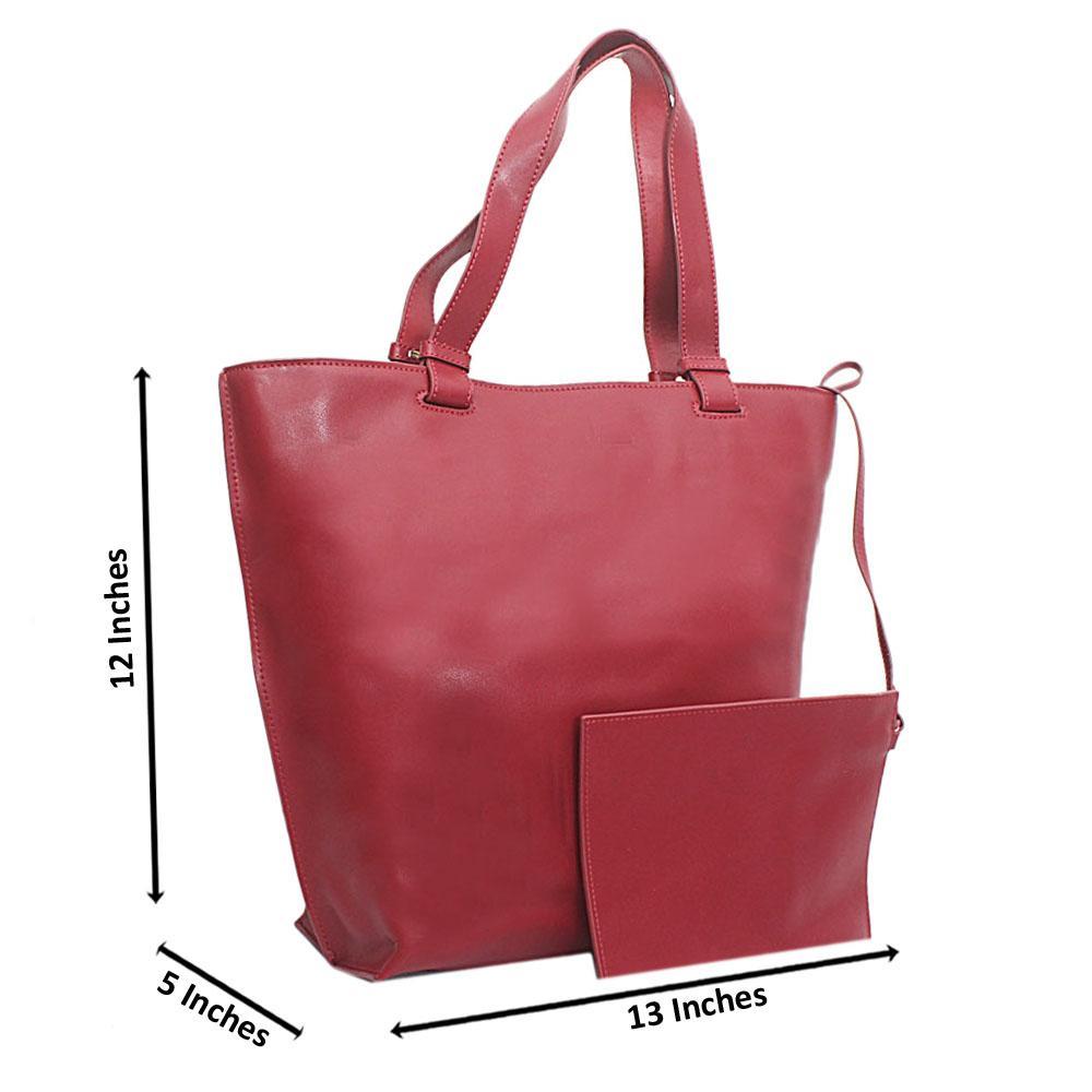 Wine Florence Calfskin Leather Shoulder Handbag