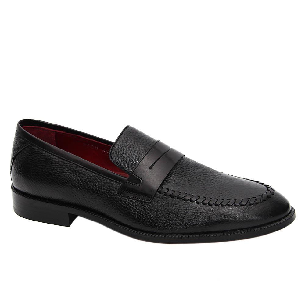 Black Romeo Italian Soft Leather Loafers