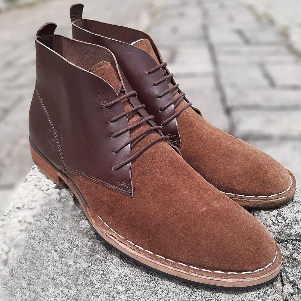 Brown Suede Leather Boot