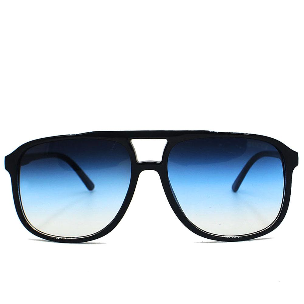 Black Blue Mix Aviator Wide Fit Sunglasses