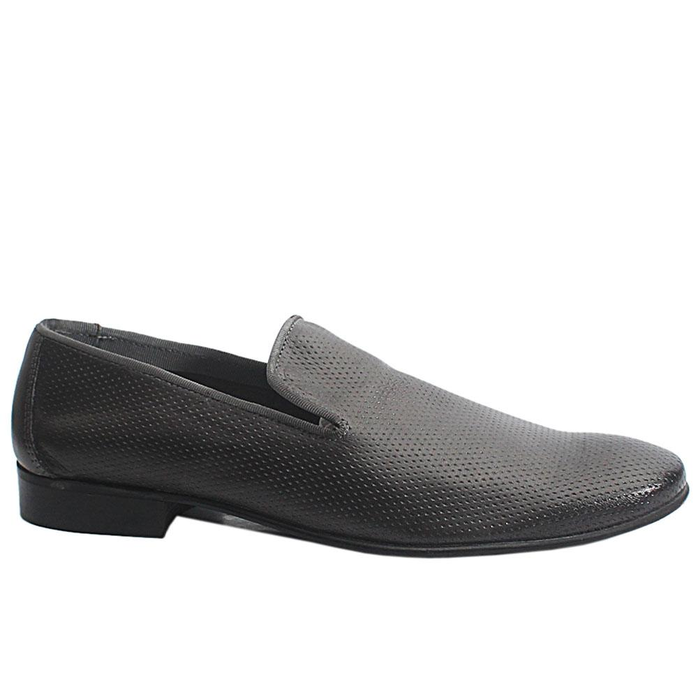 Gray Gerry Leather Men Loafers