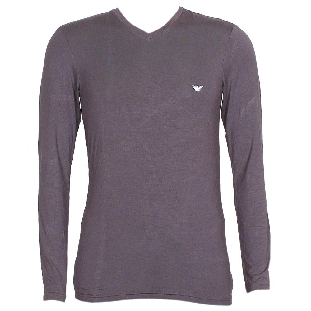 Emporio Armani Dark Grey L-Sleeve Men T-Shirt Sz XL