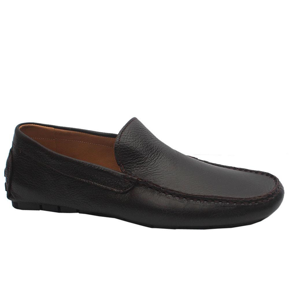 MII Coffee TDM Leather Loafers