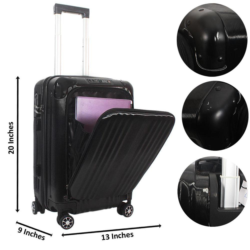 Black 20 Inch Hardshell TSA Carry On Luggage Wt Minor Scratch