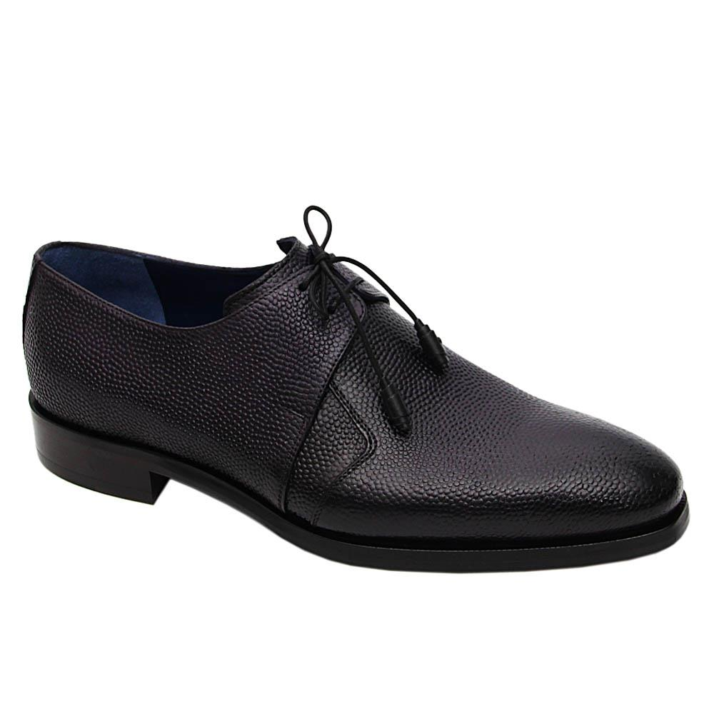 Black Cayetano Italian Leather Derby Shoe