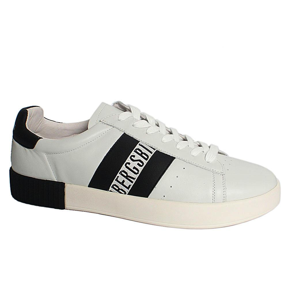 White Cosmos Breathable Leather Sneakers