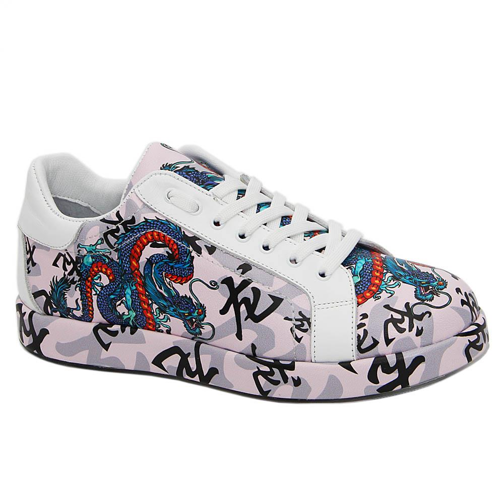 Pink-Jules-Graphic-Print-Italian-Leather-Unisex-Sneakers