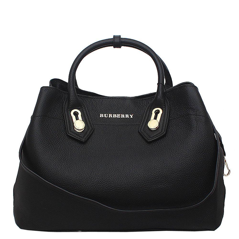 d315a14c4eb7 Buy Burberry-Black-Calfskin-Saffiano-Leather-Handbag - The Bag Shop ...