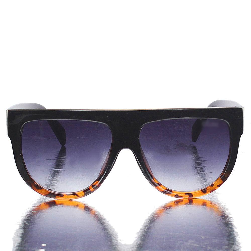 Black Brown Dark Lean Sunglasses