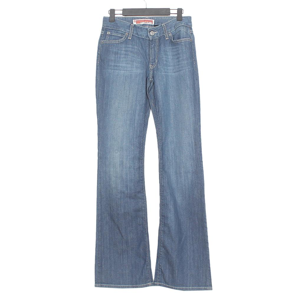 Curvy Flare Blue Ladies Jeans-W28 L42