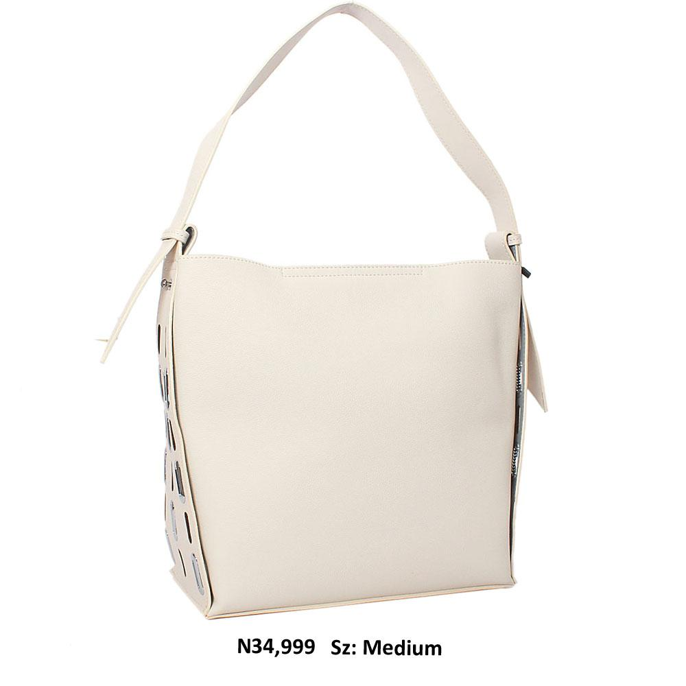 Off White Paige Leather Shoulder Handbag