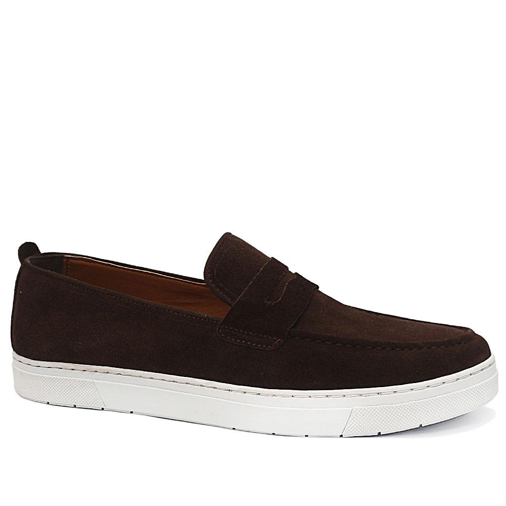 PC Collection Coffee Alphonse Suede Leather Sneakers