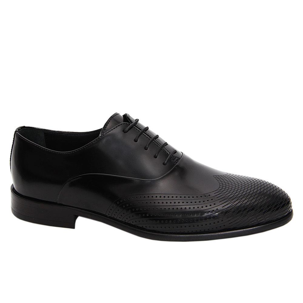 Black Tomasso Italian Leather Oxford Shoe