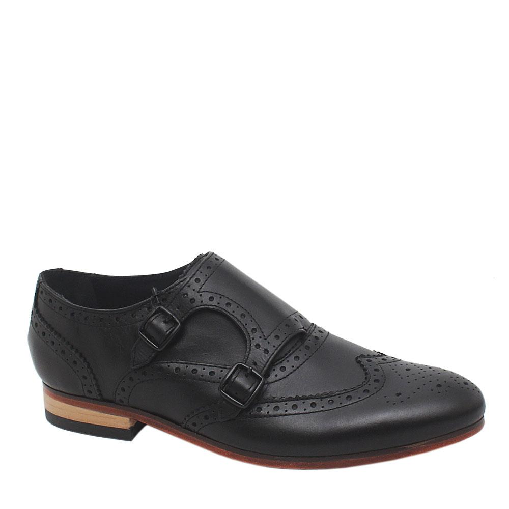 M & S Autograph Black Leather Men Brogues Sz 42