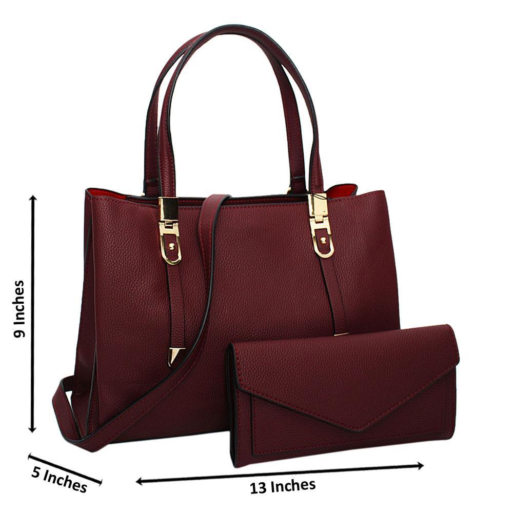 Burgundy Medium Leather Handbag