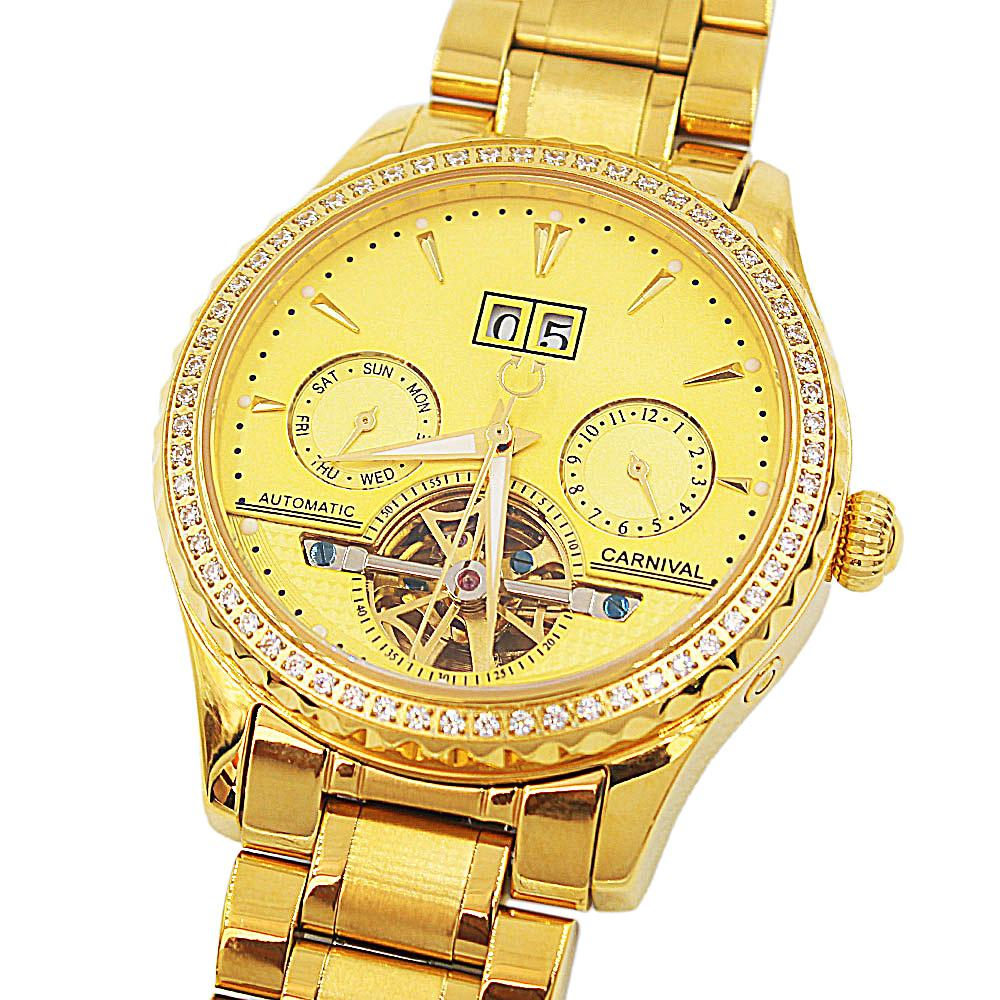 Shanghai Emiliano Gold Studded Automatic Watch