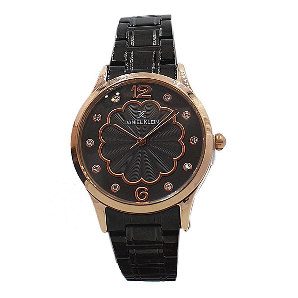 Daniel Klein Swift Black Gold Stainless Steel Ladies Watch
