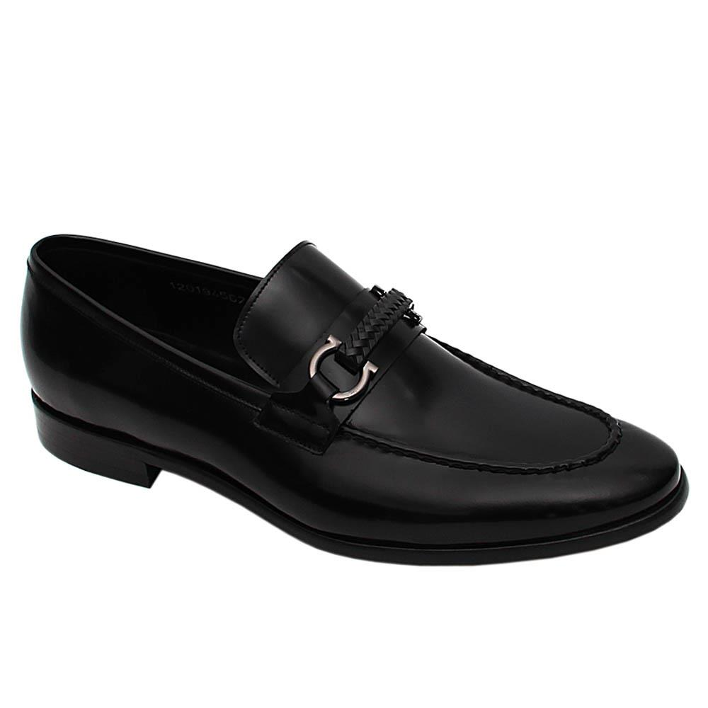 Black Duarte Italian Leather Loafers