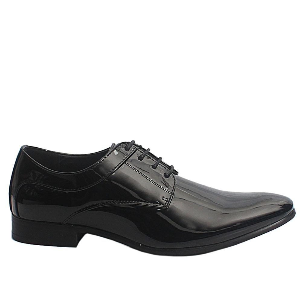 Black George Patent Leather Men Oxford Shoes