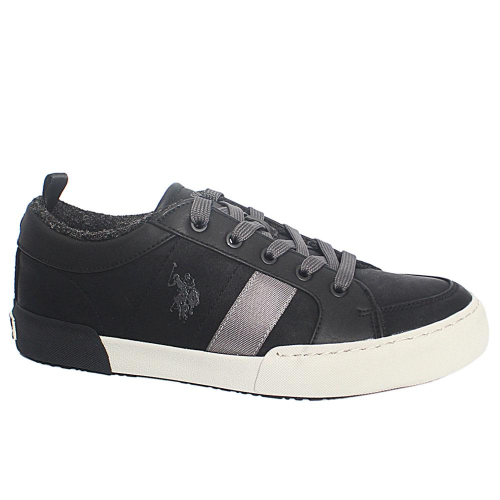 Black Roydon Eco Leather Sneakers