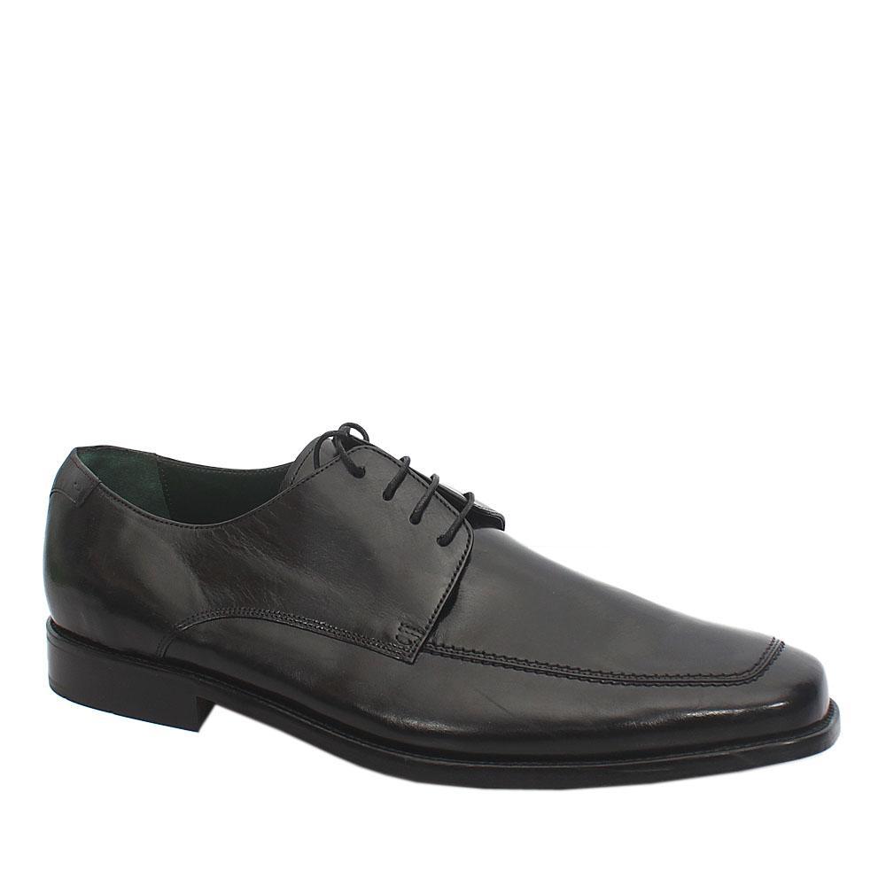 Sz 51 M&S Luxury Black Leather Men Shoe